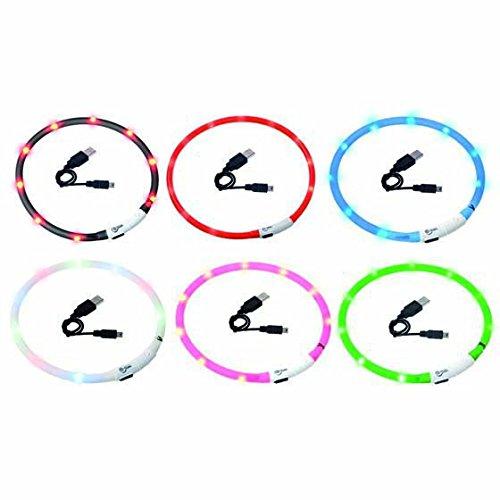 Visio Light – LED Halsband Hundesicherheit Hunde Leuchthalsband Innovation: ohne Batterien -universell kürzbar -Schwarz - 2