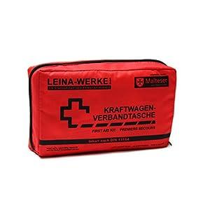 Leina-Werke 11004 KFZ-Verbandtasche Compact mit Klett, Rot/Schwarz