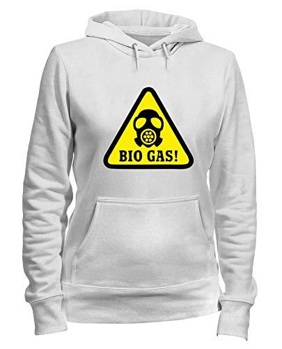 Kapuzen-Sweatshirt Frauen Weiss TM0495 Bio Gas ALERT -