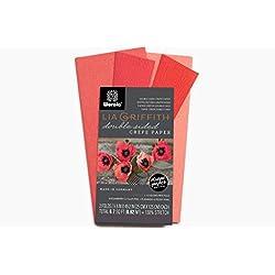 Papel crepé extrafino doble cara4colores (fresa, tulipán y flamencos, peonia)