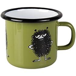 Muurla Moomin - Taza (esmaltada, tamaño pequeño), diseño de Stinky, color verde