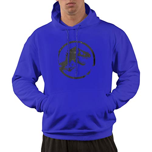 Aosepp Herren Sweatshirt Jurassic Park World Logo Nordic Winter Persönality Wild Blue Gr. X-Large, blau (Sweatshirt Jurassic Park)