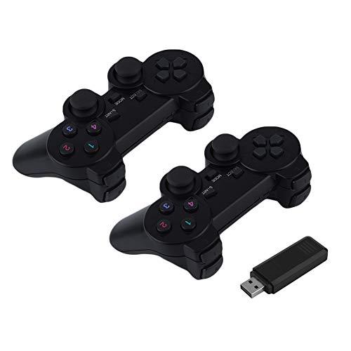 Preisvergleich Produktbild jEZmiSy Spiel Griff,  USB Wireless Dual Vibration Gamepad Regler Joystick für PC Laptop,  Handgriff,  leicht und bequem Black
