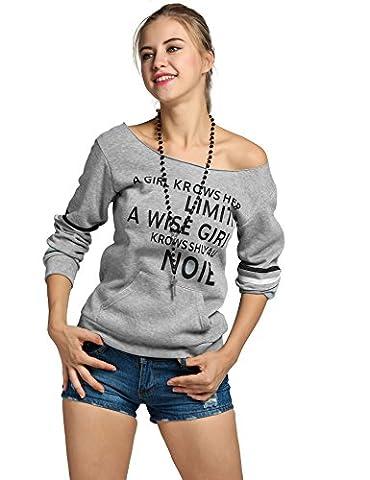 MEXI Damen Sexy Pullover Lange Ärmel Hoodie EU 34 - 42