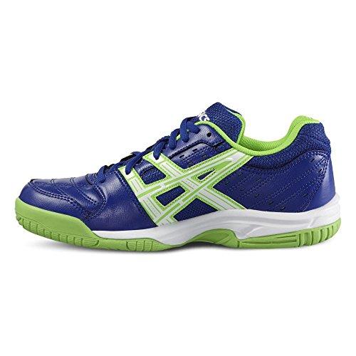 Chaussures junior Asics Gel-SQUAD GS bleu/blanc/vert Bleu moyen