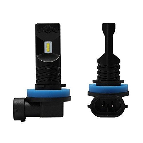 Preisvergleich Produktbild NOVSIGHT H11 H8 H9 LED Nebelscheinwerfer Birne 160W(80W*2) 1600LM(800LM*2) 12V-24V Auto Nebel Lampen DRL Tagfahrlicht Lichte (2 Stücken)