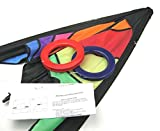 """1.6M Pro Delta Power Stunt Kite 2 Line Powerful Easy To Fly Large 63"""" Wing Span!"""