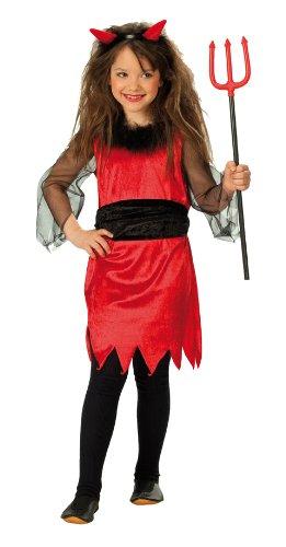 Rubie's 1 2422 140 - Kleine Teufelin Kostüm, Gröߟe (Teufel Halloween Kleine Kostüm Rote)