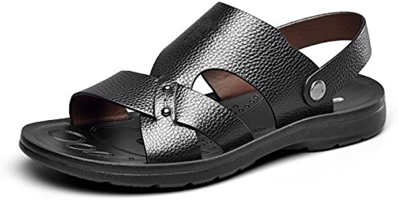 LQV Männer Leder Sandalen Sommer neue weiche Unterseite Breathable Strand Schuhe für Outdoor WandernLQV Sandalen Unterseite Breathable Outdoor