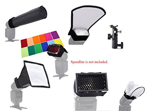 Super44day 7 in 1 Kit Universale Flash Diffusore per DSLR