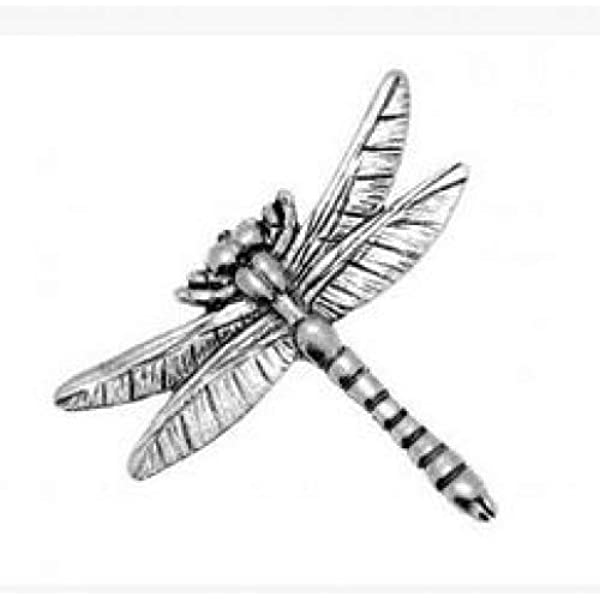 Large Dragonfly Finely Handcrafted in Solid Pewter In The UK Lapel Pin Badge