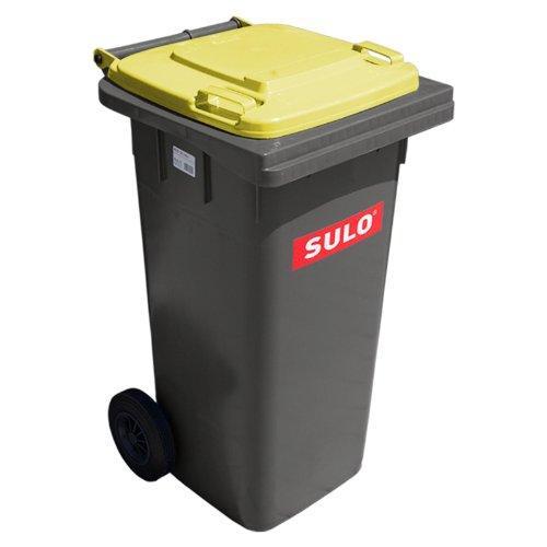 SULO Mülltonne 120 Liter, gelber Deckel thumbnail