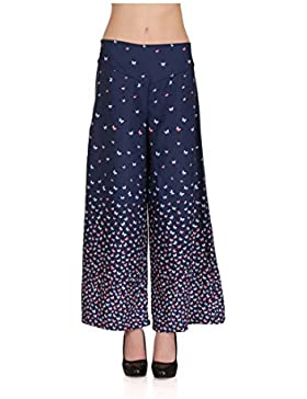 Indian Handicrfats Export Embok Regular Fit Women Blue Trousers