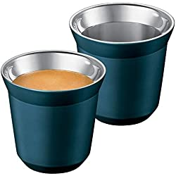 Nespresso Pixie Lungo Tasse en métal Bleu Dharkan (bleu-vert).