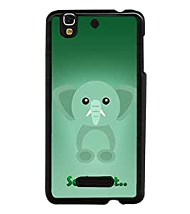 Fuson Elephant Clipart Designer Back Case Cover for YU Yureka Plus :: Yu Yureka Plus YU5510A (Abstact Art Paint Painting Illustrations)