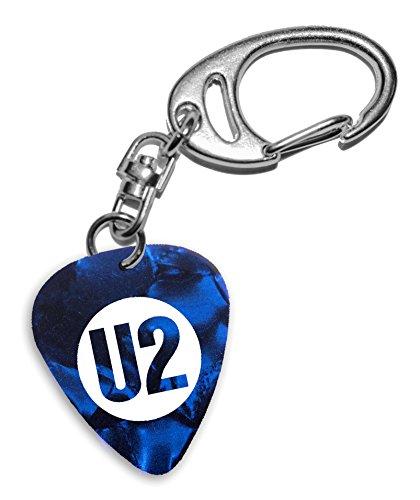 U2 Band Logo Blue Keyring Llavero de púa de guitarra (H)