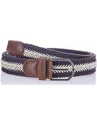 Lino Perros Blue Leather Men's Belt
