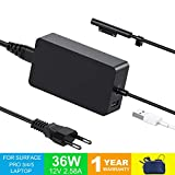 TEMINICE Chargeur Surface Pro 4, Chargeur Surface Pro 3, 36W 12V 2.58A Alimentation...