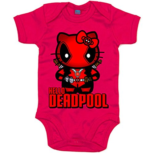 Body bebé Hello Deadpool - Fucsia, 6-12 meses