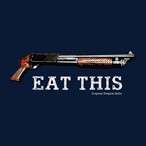 Aliens Eat This Shotgun Quote Corporal Dwayne Hicks Men's Vest Navy Blue