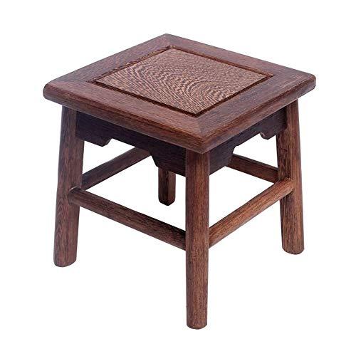 Yjyxzy Bad Hocker rutschfeste Holz Duschstuhl Ältere Schwangere Bad Bad Stuhl Klassischen Stil Hause Tragbare Anti-Korrosions-Schuhe Hocker (Size : 26 * 26 * 20cm) (Klassischer Stuhl)