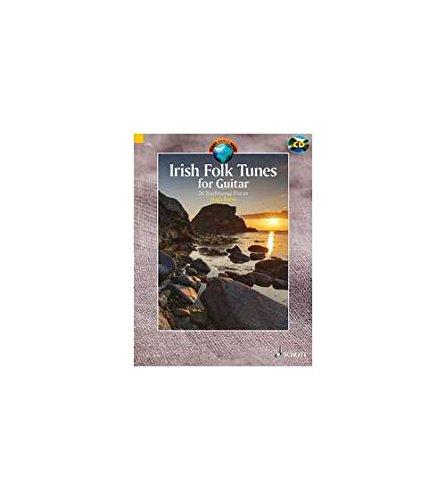 Irish Folk Tunes for Guitar - 24 Traditional Pieces - Schott World Music - guitar - edition with CD - ( ED 13571 ) par Hugh Burns