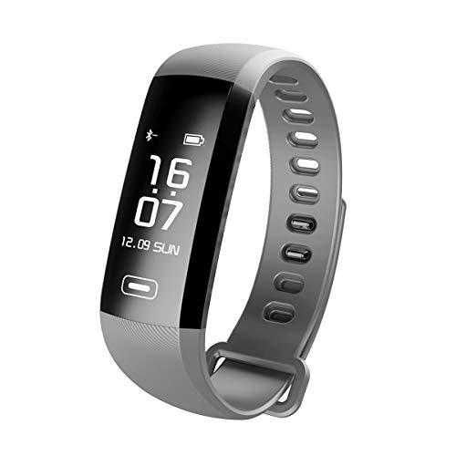 TEZER R5 Digital Uhr Fitness Armbanduhr Fitness Tracker Smartwatch Wasserdicht IP67 Aktivitätstracker Schrittzähler Armbanduhr Schlafanalyse Kalorienzähler Bluetooth Tracker mit IOS Android (grau)