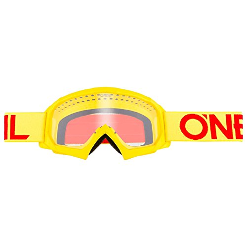 O'Neal B-10 Kinder Solid Goggle Kinder Crossbrille Motocross DH Downhill MX Anti-Fog Glas Youth, 6024-11, Farbe Neongelb