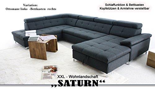 Wohnlandschaft Saturn Xxl Sofa Hell Grau U Form Mit Schlaffunktion