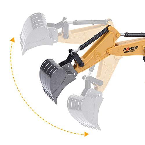 RC Auto kaufen Kettenfahrzeug Bild 3: Fernbedienung Bagger, 2,4 GHz 6 Kanäle Fernbedienung Bagger LKW 1/24 RC Engineering Auto Baufahrzeug Spielzeug Geschenk für Kinder*