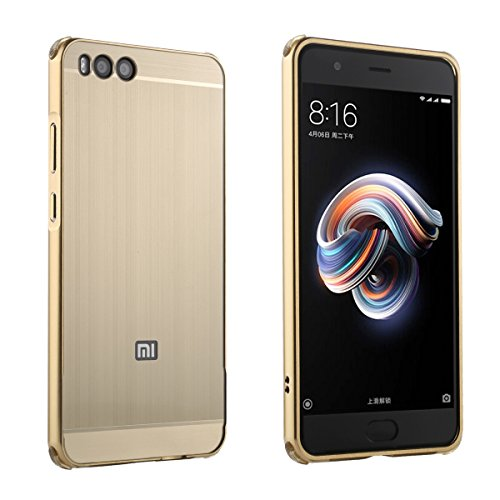 Xiaomi Mi Note 3 Hülle Case Ultra Slim Carbon Fiber Metal Frame Ultradünn Leicht Tasche Outdoor Case Staubdichte Kratzfest Robuste hülle Back Cover Stoßfest Schutzhülle für Xiaomi Mi Note 3 - Golden