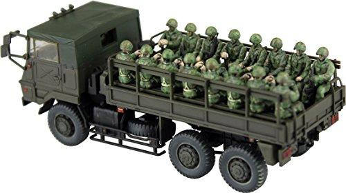 Kit montaggio camion militare type 73 con 20 soldati - scala 1/72 aoshima japan