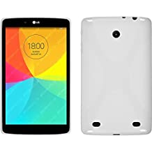 Funda de silicona para LG G Pad 8.0 - X-Style blanco - Cover PhoneNatic Cubierta Case