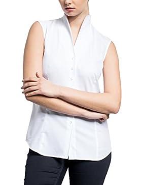 ETERNA ohne Arm Bluse COMFORT FIT unifarben