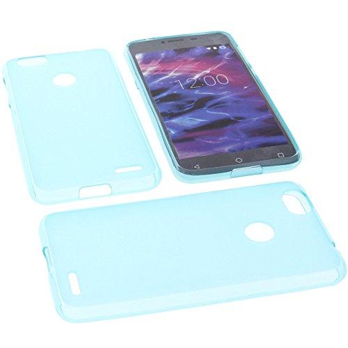 foto-kontor Tasche für MEDION Life E5008 Hülle Gummi TPU Schutz Handytasche blau