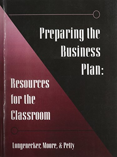 Preparing the Business Plan: Resources for the Classroom (Gc-Principles of Management Ser.)) by Justin G. Longenecker (1994-08-12)