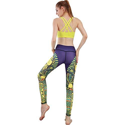 HAO Ropa De Yoga Pantalones Impresos para Damas Pantalones De Yoga Pantalones Deportivos Ajustados De Cintura Alta Buda XL