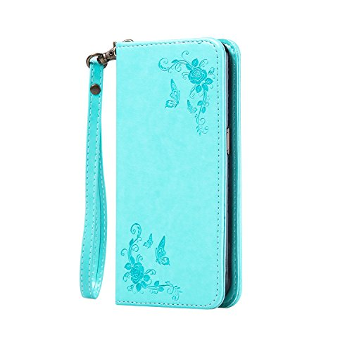 For Apple iPhone 6 Plus (5.5 inches) Flip ZeWoo® PU Leather Case Wallet Cover - HA004 / Rose (white) Rose(green)