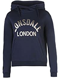 Lonsdale Femme Enfiler Sweater Sweat A Capuche Hoodie Hoody Top Haut Casual
