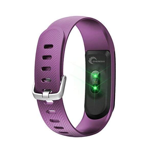 CHEREEKI Pulsera Actividad [versión Mejorada] con Control de frecuencia cardíaca podómetro Monitor, Smartwatch Pulsera… 2