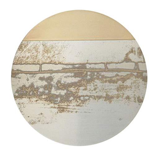 Carprt Moderne minimalistische Nachahmung Seide Nordic Wohnzimmer Schlafzimmer Bereich Runde Studie Drehstuhl Korb Yoga Matte Teppich (Farbe : #1, größe : Diameter200cm)