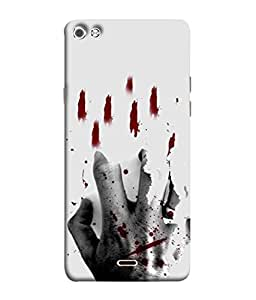 PrintVisa Scary Moment 3D Hard Polycarbonate Designer Back Case Cover for Micromax Canvas Sliver 5 Q450 :: Silver Q450