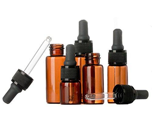 15ml di olio essenziale di vetro ambrato con occhio contagocce trucco cosmetici provetta bottiglia per oli essenziali aromaterapia e altri liquidi, confezione da 6
