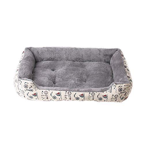 DaoRier Haustierbett Hundebett Katzenbett Katzenkissen Hundekissen Winter Plüsch Baumwoll-Bett für Hunde Katzen Kleintiere Size 45 * 31 * 10cm (Grau)