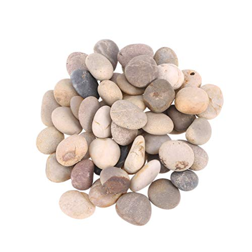Healifty 50pcs Tiny Painting Rocks DIY Painting Crafts Smooth Kindness Rocks Natural Stones Beach Pebble for Painting 1cm-3cm (Mixed Color) -