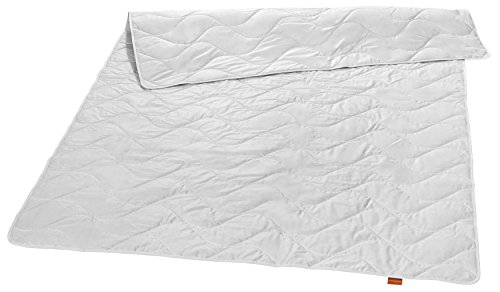 sleepling 196356 Nature Wildseide Seiden-Leichtsteppbett 100% Tussah Seide 220 x 240 cm, weiß