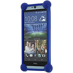 YEZZ ANDY 5EI coque bumper antichoc en silicone bleu de qualité by PH26®