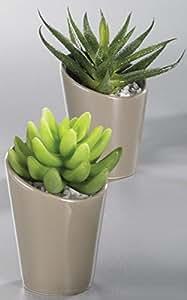 Kakteen im Topf Kunstpflanzen Kaktus Topfpflanze 1 Stück