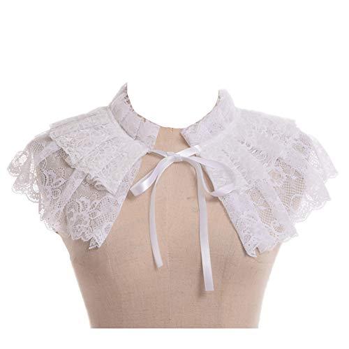 GRACEART Rüsche Halsband Viktorianisch - 2 Stück Rüschen Kostüm
