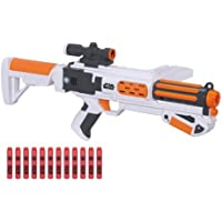Star Wars NERF Episode VII First Order Stormtrooper Deluxe Blaster - Includes Blaster, Stock, Removable Scope, Clip, 12 Darts & Instructions - Fires darts up to 65 feet (20 meters) - B3173-6 years +